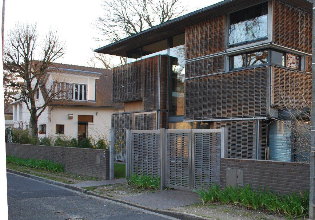 cloture facade maison good clture acier corten et. Black Bedroom Furniture Sets. Home Design Ideas